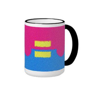 Equal Rights Logo, Impressionist's Style Ringer Mug