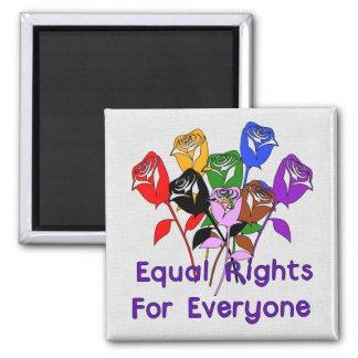 Equal Rights Square Magnet