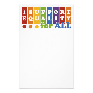 Equal Rights stationary Personalised Stationery