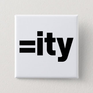 Equality 15 Cm Square Badge