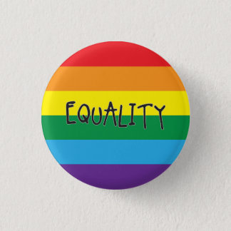 Equality for all 3 cm round badge