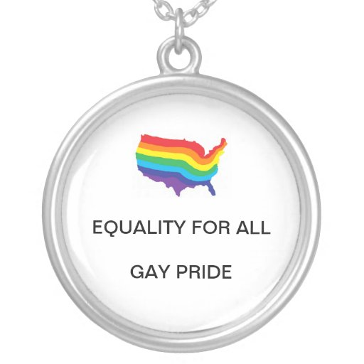 EQUALITY FOR ALL-GAY PRIDE NECKLACE
