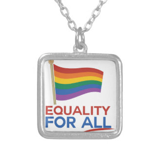 Equality For All Square Pendant Necklace