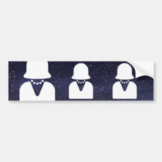 Equality Girls Pictograph Bumper Sticker