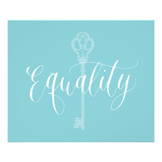 Equality is the key to life photo art