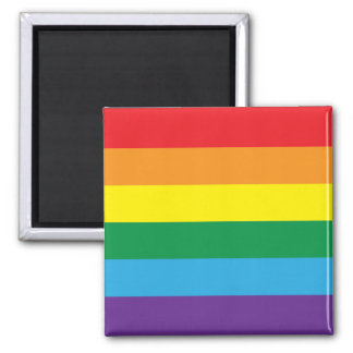 EQUALITY - Rainbow Design Square Magnet