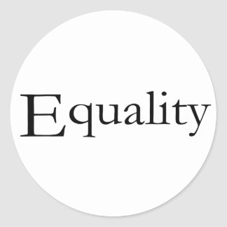 Equality Round Sticker