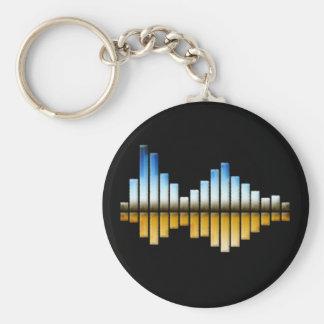 Equalizer Basic Round Button Key Ring