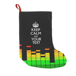 Equalizer DJ KEEP CALM AND Your Creative Text Small Christmas Stocking
