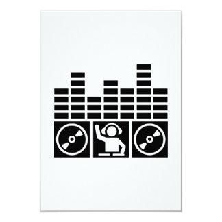 Equalizer DJ Vinyls 3.5x5 Paper Invitation Card