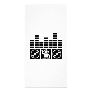 Equalizer DJ Vinyls Personalized Photo Card