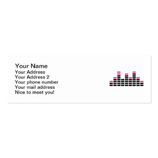 Equalizer mixing console pack of skinny business cards