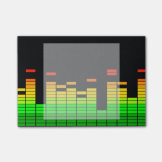 Equalizer Vibes from the Beat of DJ Music decor Post-it Notes