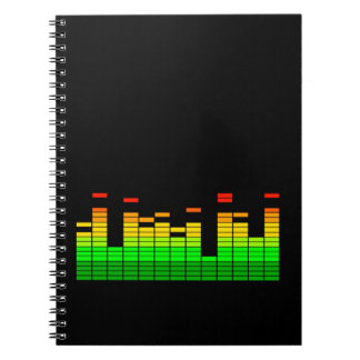 Equalizer Vibes from the Beat of DJ Music decor Spiral Note Book