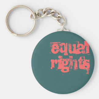 equalrights basic round button key ring