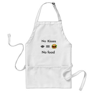 equals, Hamburger 13, Lips, No food, No, Kisses Standard Apron