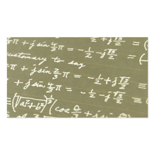 Equation Business Card Templates