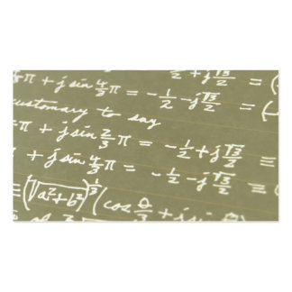 Equation Pack Of Standard Business Cards
