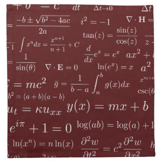 Equations of Math and Science Cloth Napkins