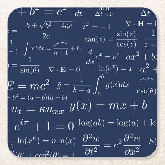 Equations of Math and Science Coasters