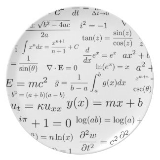 Equations of Math and Science Melamine Plate
