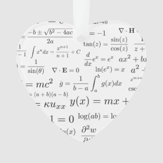 Equations of Math and Science Ornament