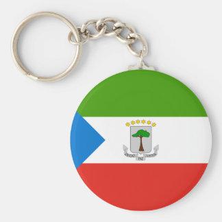 equatorial guinea basic round button key ring