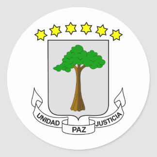 Equatorial Guinea Coat of arms GQ Classic Round Sticker