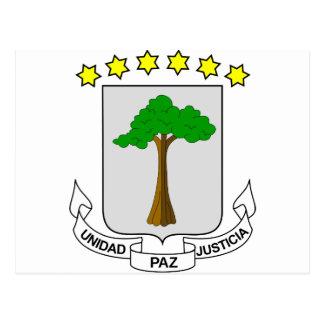 Equatorial Guinea Coat of arms GQ Postcard