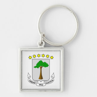 Equatorial Guinea Coat of Arms Keychain