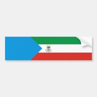 Equatorial Guinea country flag nation symbol long Bumper Sticker