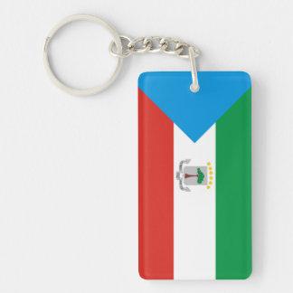Equatorial Guinea country flag nation symbol long Single-Sided Rectangular Acrylic Key Ring