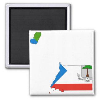 Equatorial Guinea Flag Map GQ Magnet