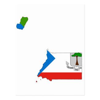 Equatorial Guinea Flag Map GQ Postcard