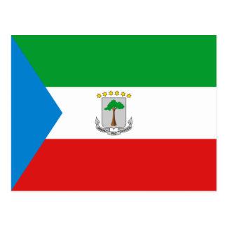 Equatorial Guinea Flag Postcard