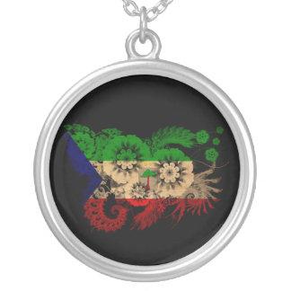 Equatorial Guinea Flag Silver Plated Necklace