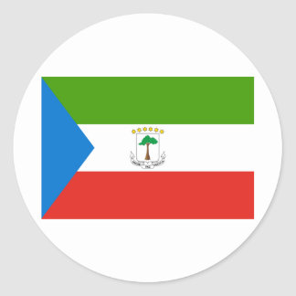 Equatorial Guinea GQ Classic Round Sticker