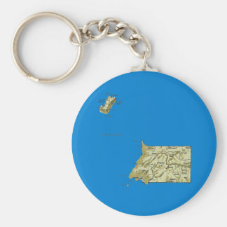 Equatorial Guinea Map Keychain