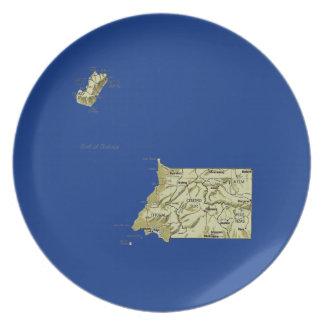 Equatorial Guinea Map Plate