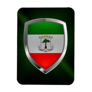 Equatorial Guinea Mettalic Emblem Magnet