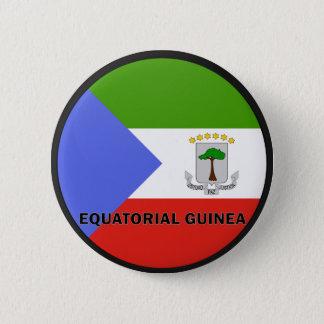 Equatorial Guinea Roundel quality Flag 6 Cm Round Badge