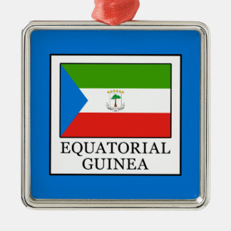 Equatorial Guinea Silver-Colored Square Decoration