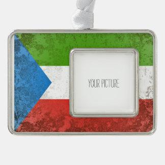 Equatorial Guinea Silver Plated Framed Ornament