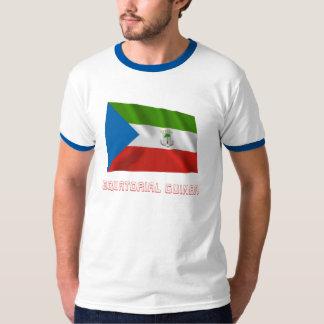 Equatorial Guinea Waving Flag with Name T-Shirt