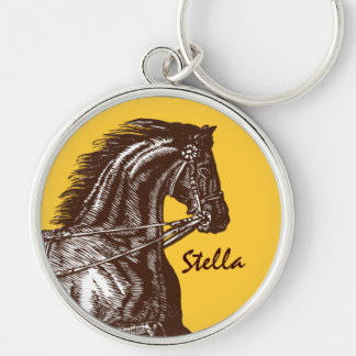 Equestrian- Any Colour Background! Key Ring
