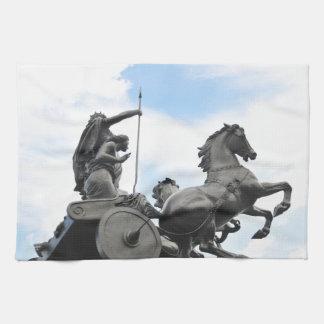 Equestrian architecture in London Tea Towel