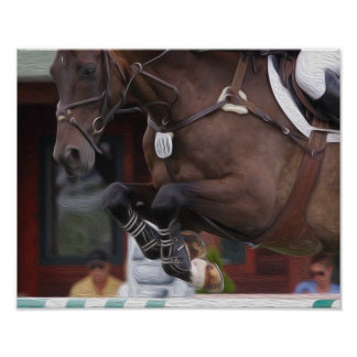Equestrian Art-Show Jumping Poster