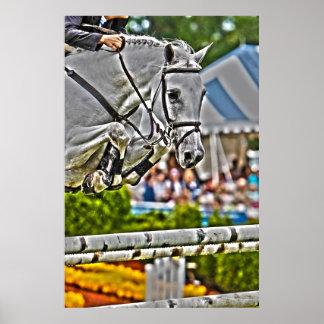 Equestrian Art-Show Jumping Poster