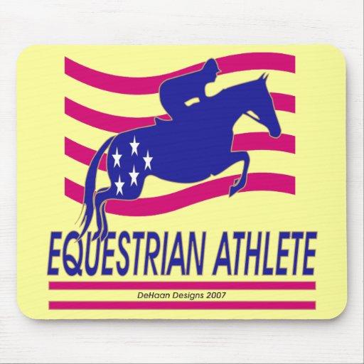 Equestrian Athlete Show Jumper Mousepad
