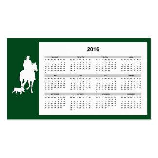 Equestrian Business Card with 2016 Calendar